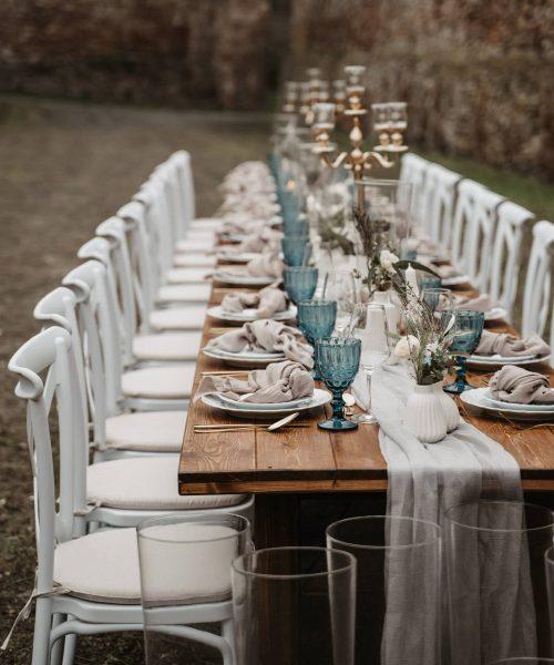 Crossback Stuhl Weiß Outdoor