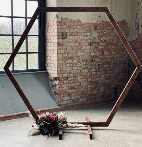 Hexagon Traubogen mieten